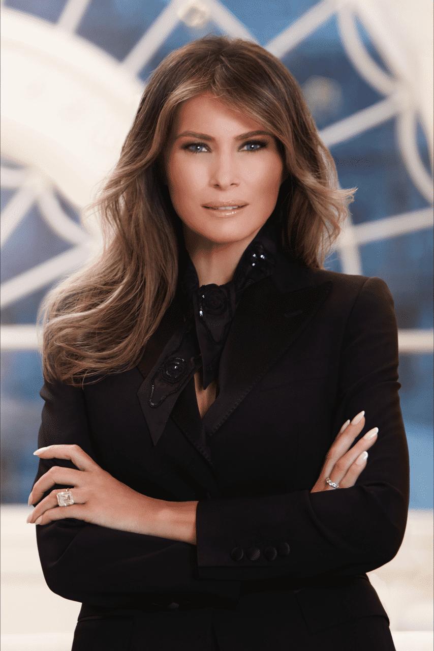 Melania Trump: Offizielles Porträtfoto erntet Lob und Kritik
