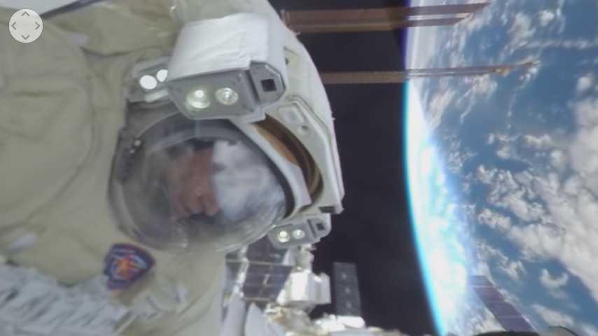 Premiere: Weltraumspaziergang als 360-Grad-Video