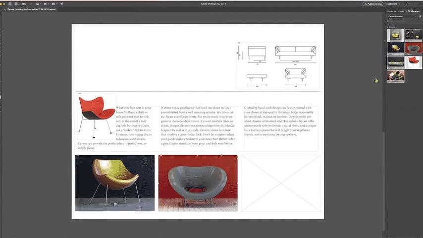 InDesign-Nutzer können über KI Bildelemente in Layouts einbinden.