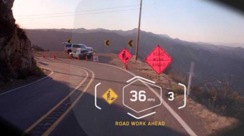 So könnte sich die Anzeige des Displays für einen Motorradfahrer darstellen