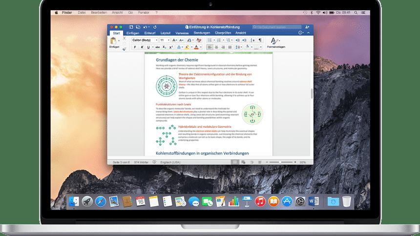 Office für Mac 2016