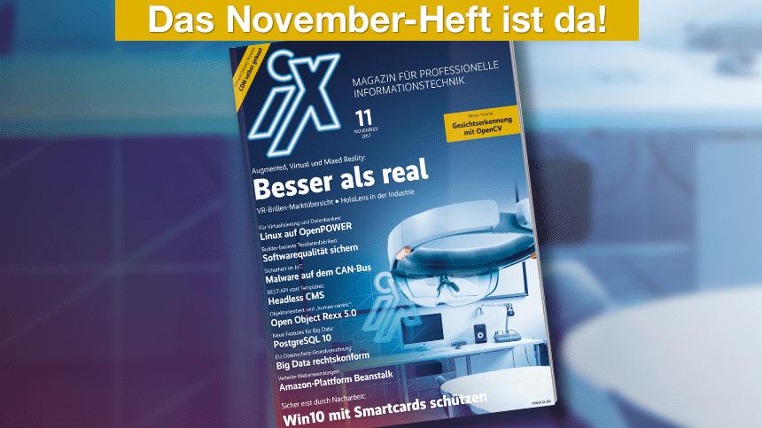 iX 11/2017: VR in der Industrie