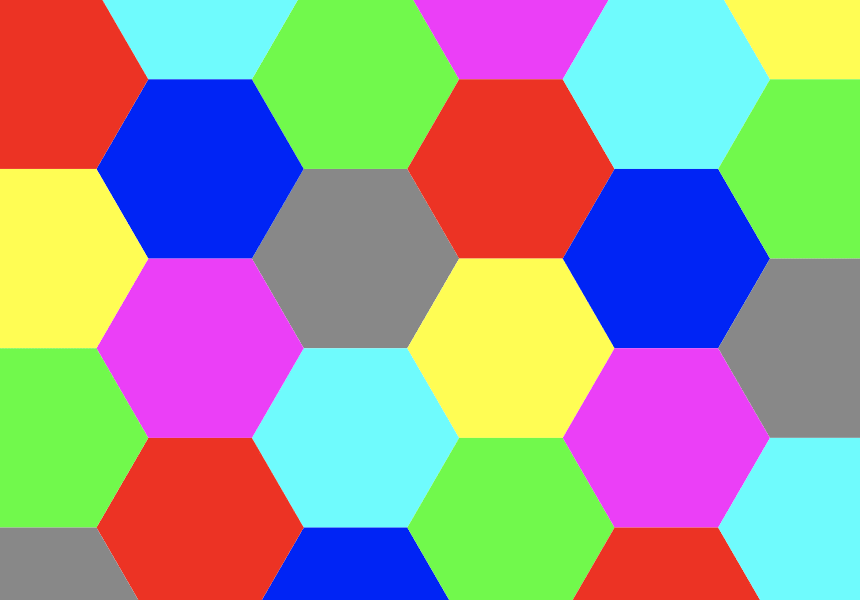 7 Farben in der Ebene