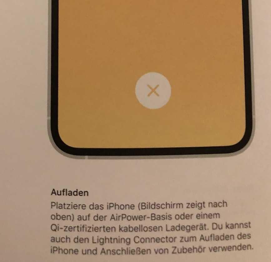 Hinweis in Apple-Anleitung.