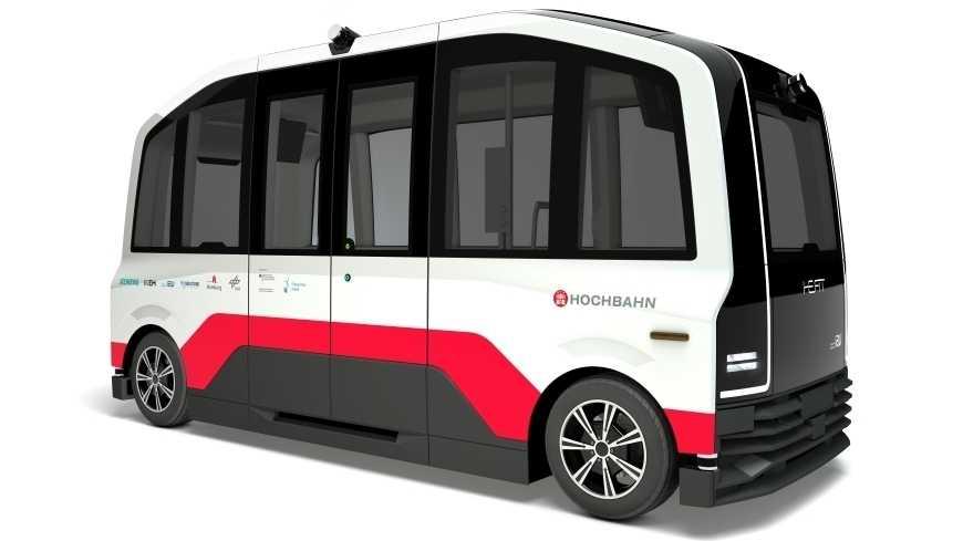 Durch Hamburgs Hafen-City sollen autonome Elektrobusse fahren