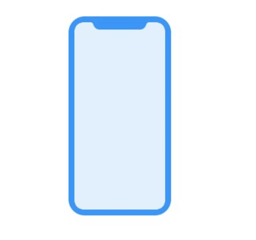 """Die neue Frontpartie des """"iPhone 8"""" – von Apple in der HomePod-Firmware versteckt."""