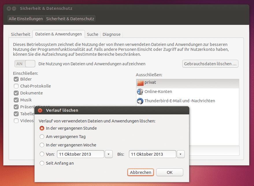 Ubuntu 13.10 Sicherheit und Datenschutz