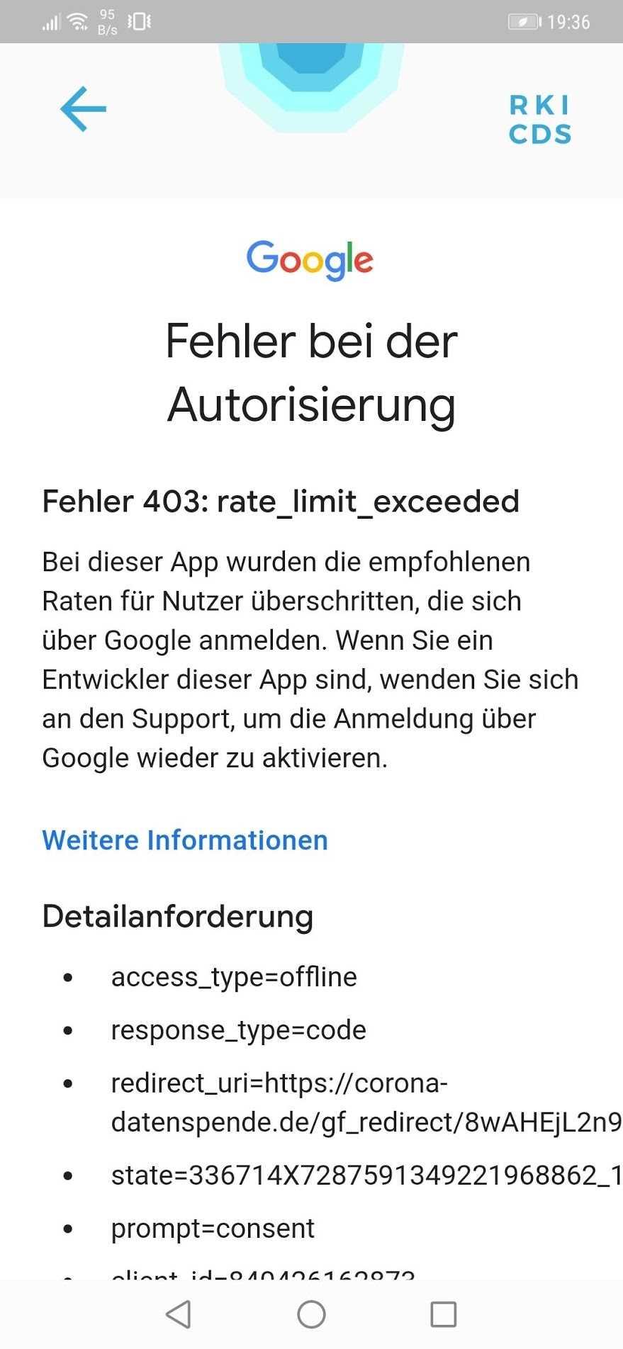 Die Datenspende-App offenbarte anf?nglich haarstr?ubende Probleme.