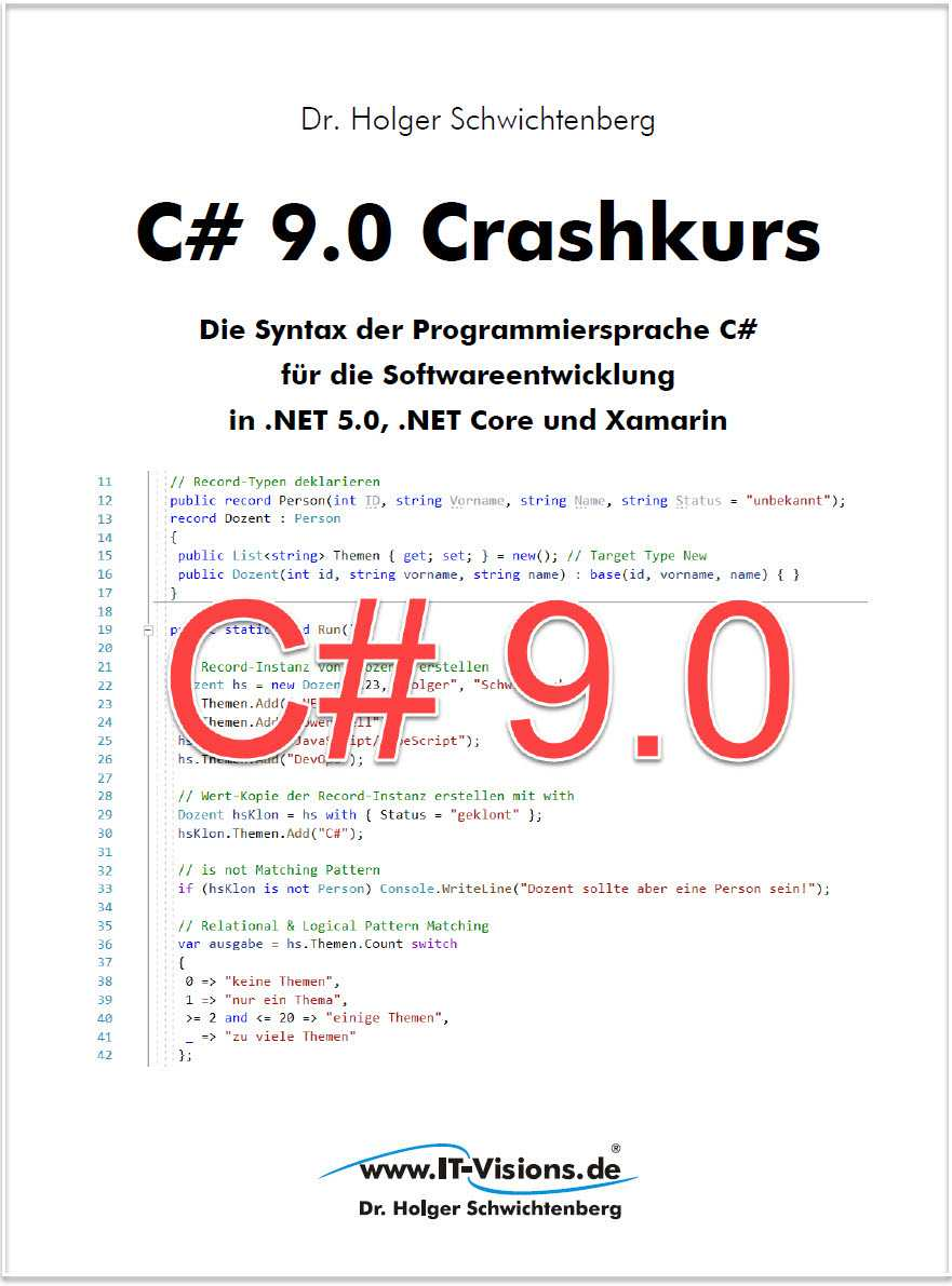 Cover C# 9.0 Crashkurs