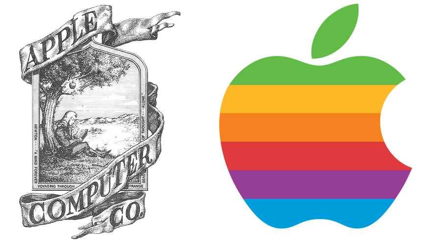 Das erste und das zweite Apple-Logo