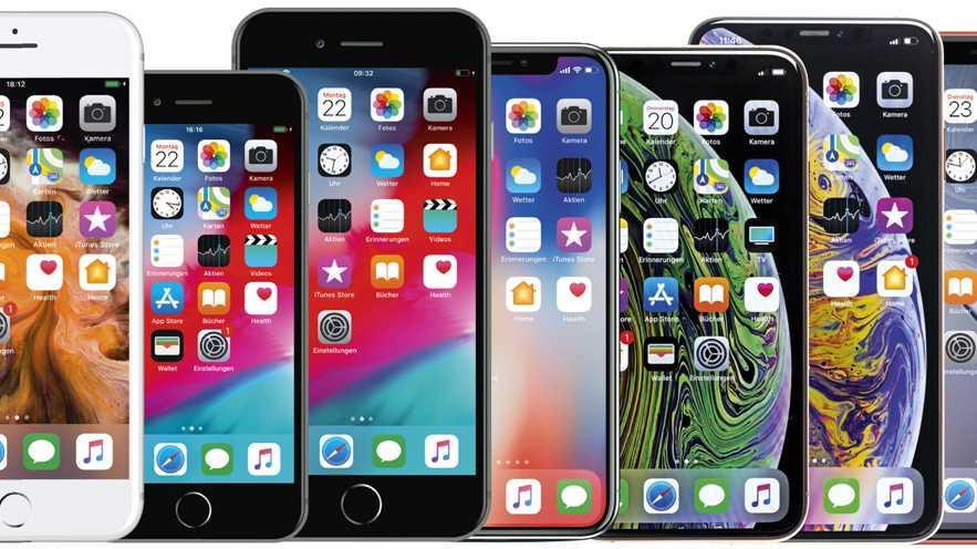 iPhones von 5s bis XS Max