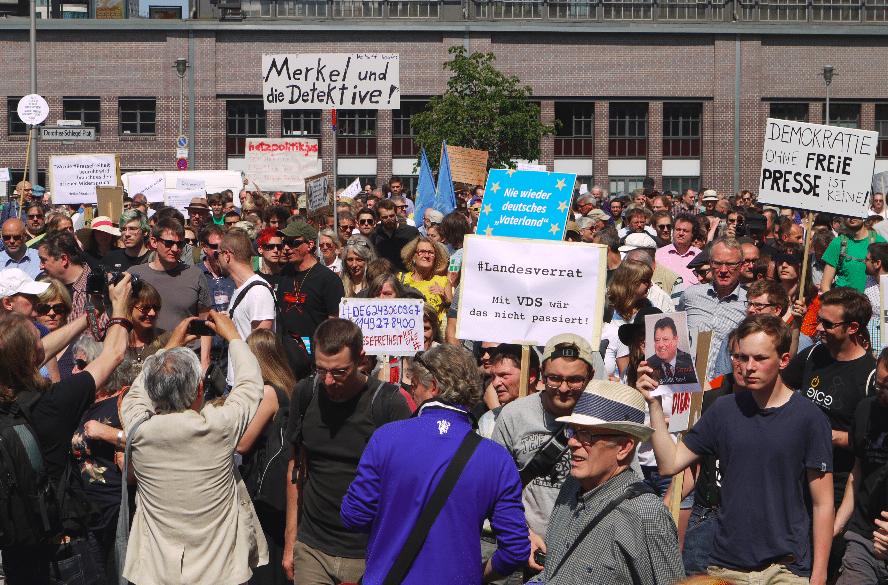 Demonstration für Grundrechte, Pressefreiheit und Netzpolitik.org