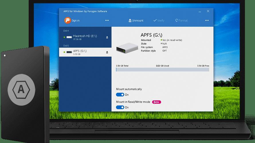 Windows-Treiber für APFS von Paragon