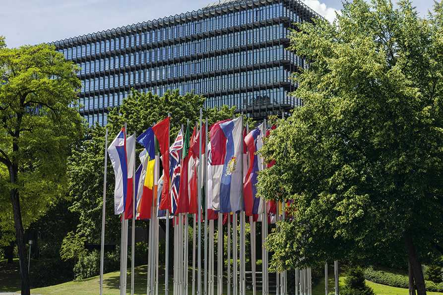 Die Zentrale des Europäischen Patentamts in München