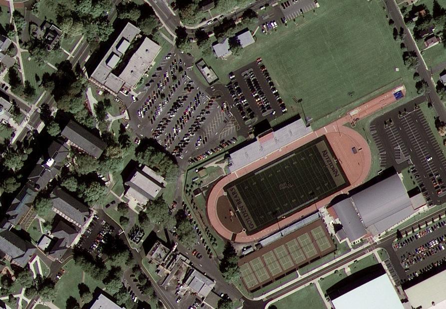 Universität von Kutztown, wie sie GeoEye-1 sieht