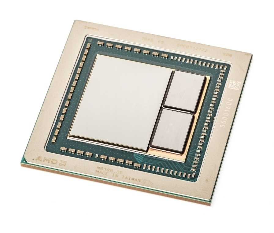 Die Vega-GPU mit 4096 Shader-Rechenkernen  und zwei HBM2-Speicherstapeln
