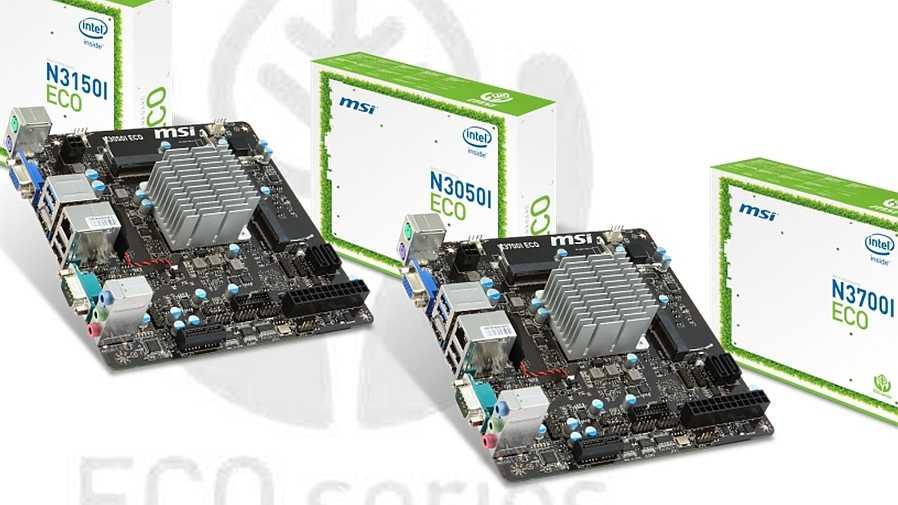 MSI N3050I ECO, N3150I ECO, N3700I ECO