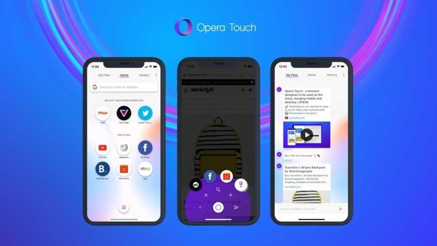 Opera Touch will zum iPhone-X(S)-Browser werden