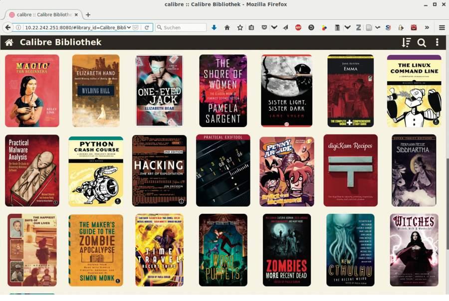Digitales Bücherregal