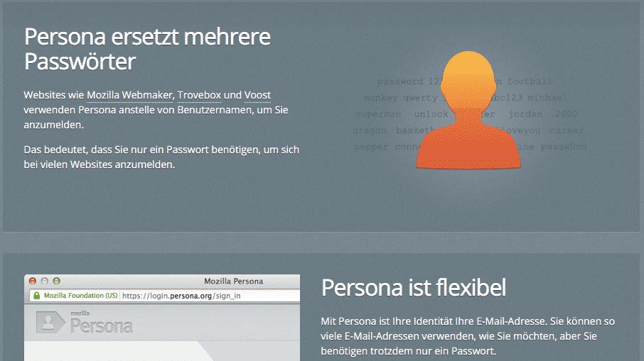 """Mozilla stellt Authentifizierungsdienst """"Persona"""" ein"""