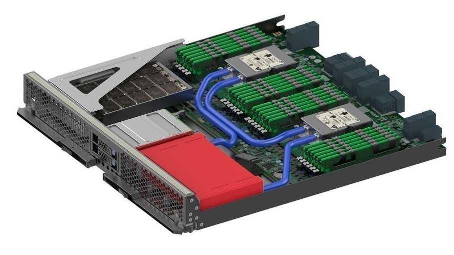 Wassergekühltes Server-Modul von Sugon alias Dawning