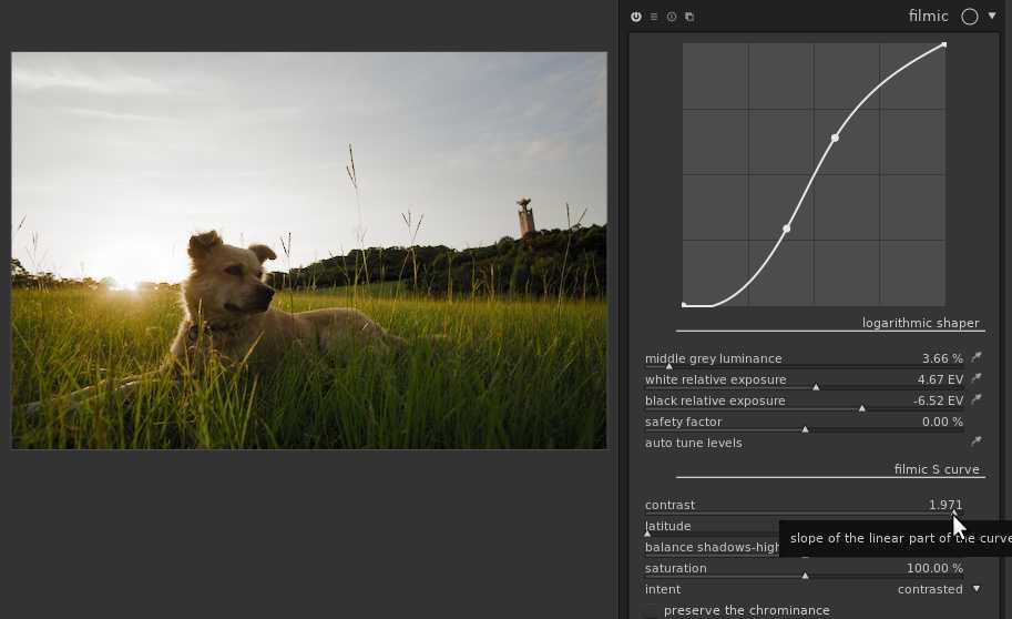 Das Filmic-Modul erhält in Gegenlichtaufnahmen die natürliche Farbgebung.