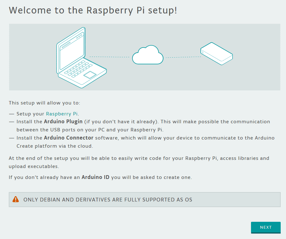 Screenshot der Installation von Raspberry-Pi-Boards in Arduino Create