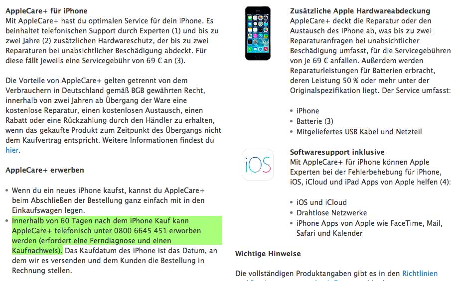 Die geänderte Passage im Apple Store