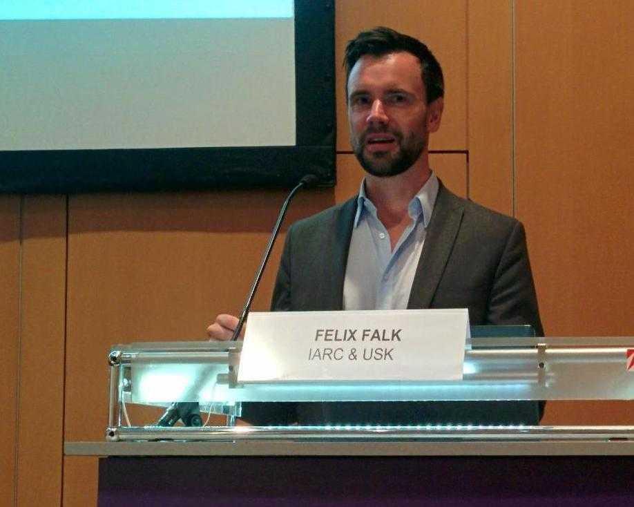 USK-Geschäftsführer Felix Falk zeigte sich in Köln von dem Erfolg des <br /> Selbsteinstufungssystems begeistert.
