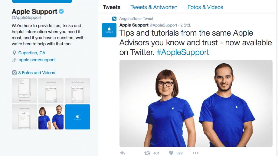 Apple hat auf Twitter viel zu tun
