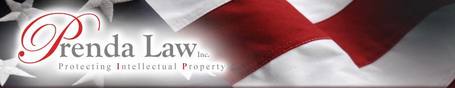 "Banner ""Prenda Law Inc. - Protecting Intellectual Property"""