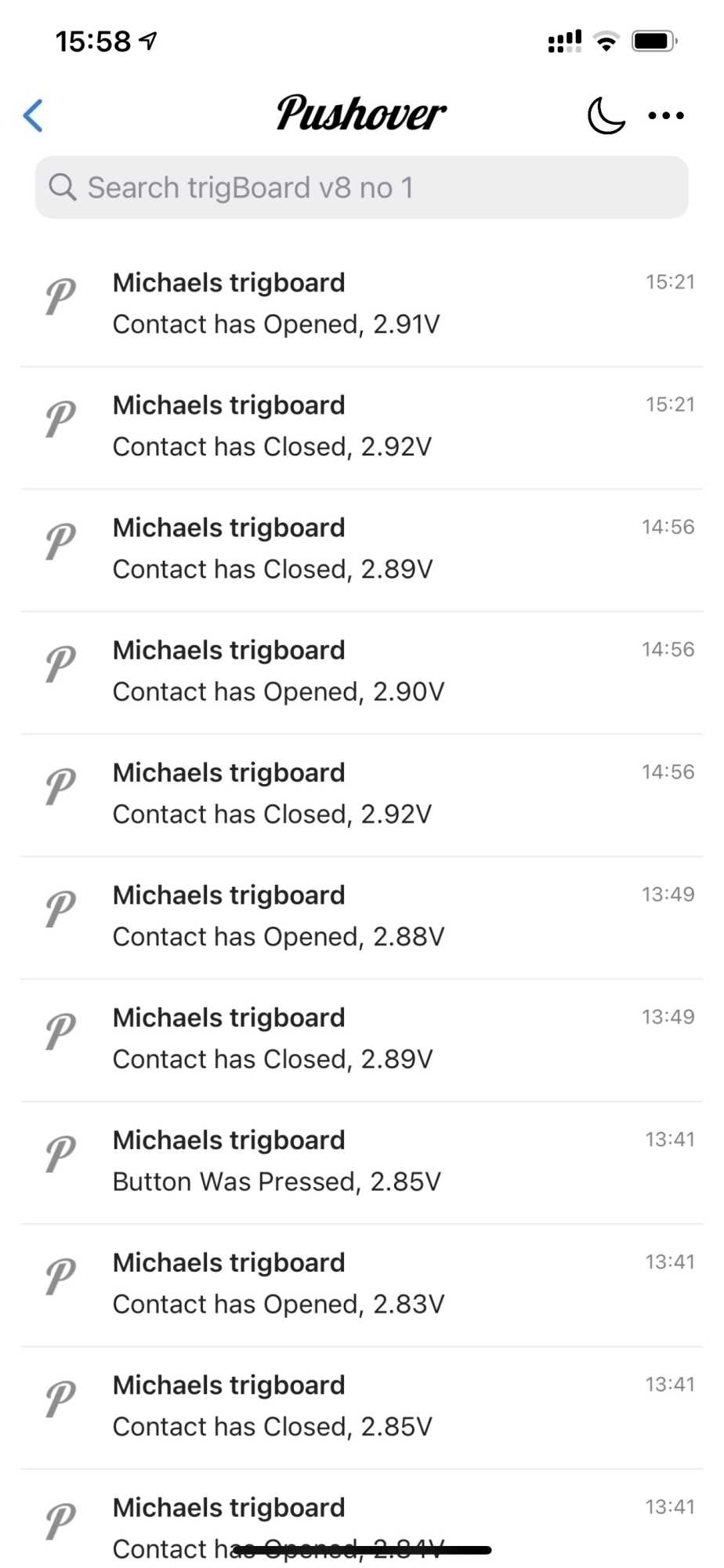 Der Dienst Pushover läuft auf iOS- und Android-Apps. Er empfängt die Meldungen des trigBoard und leitet sie weiter.