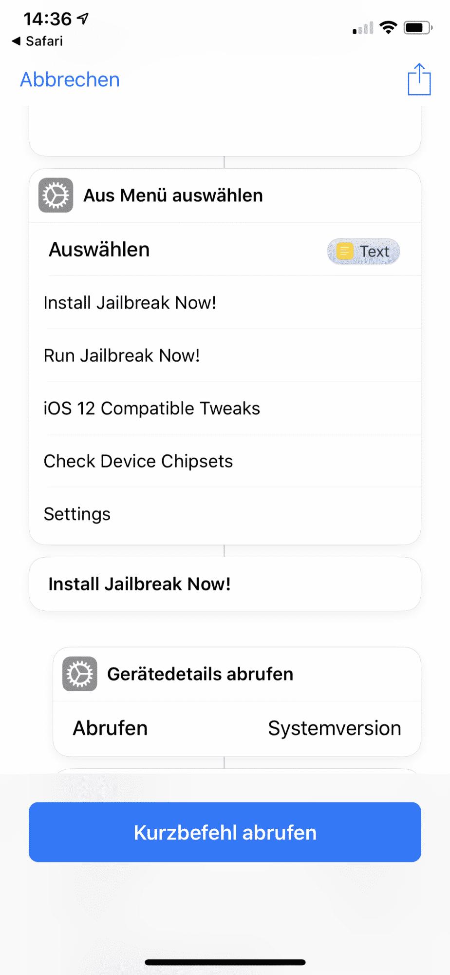 Ein Shortcut soll den Jailbreak vereinfachen.