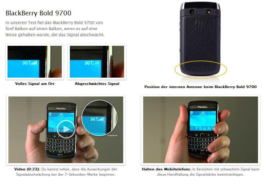 Blackberry Bold Antenne