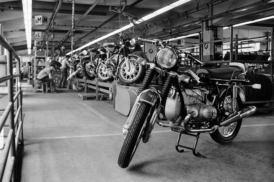 Produktion der BMW /5-Serie in Spandau um 1970