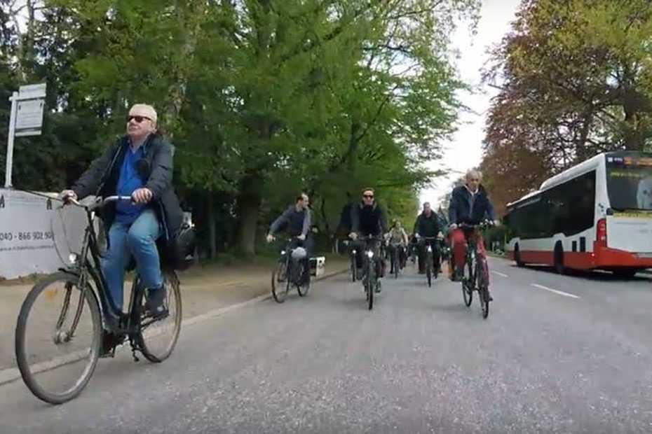 Radverkehr auf der Elbchaussee