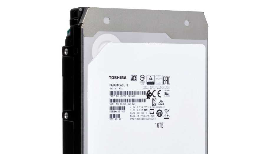 Toshiba: 16-TByte-Festplatte mit konventioneller Technik