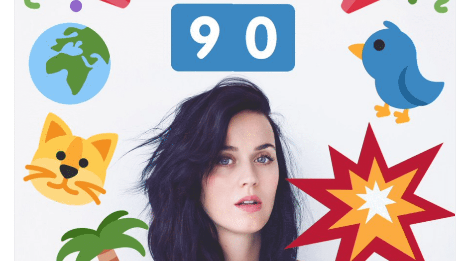 Katy Perry hat über 90 Mio. Twitter-Follower