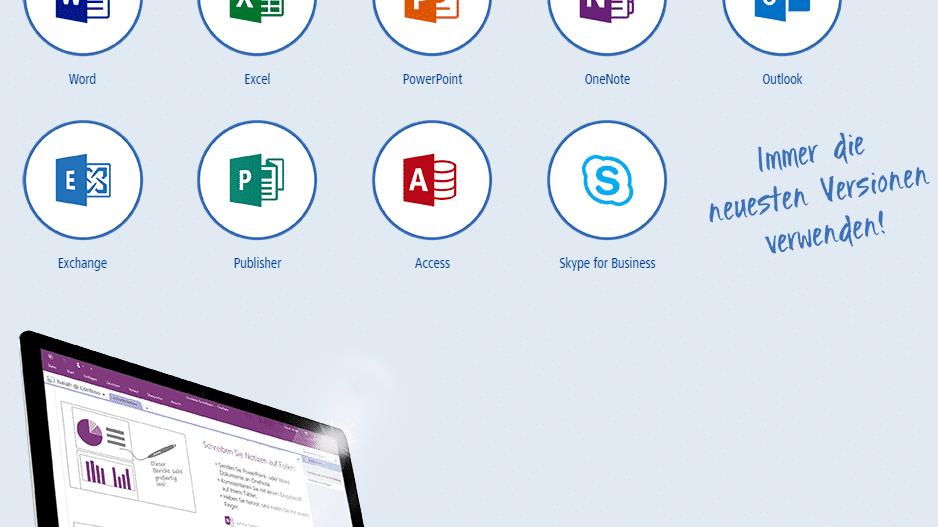 Office 365 Deutschland bei 1&1: Mit Einrichtungsservice und Domain
