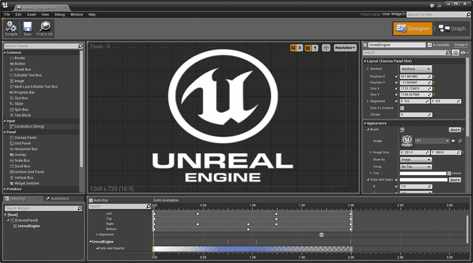 Guidesigner der Unreal Engine