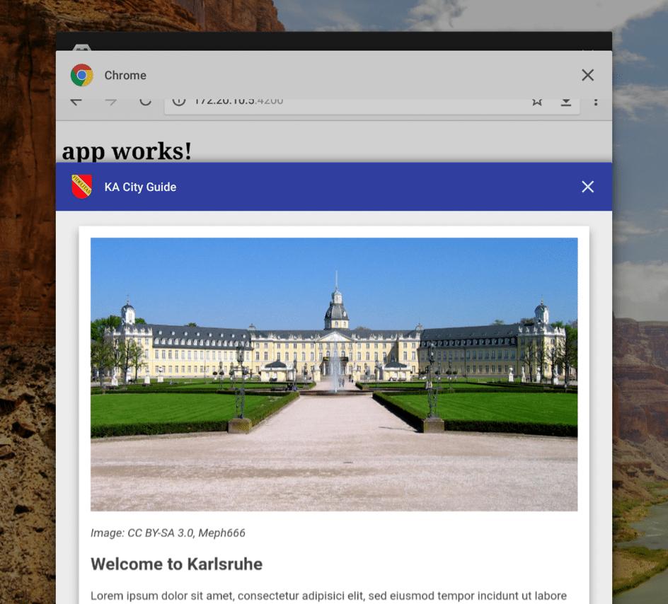 Progressive Web App im Tab-Switcher