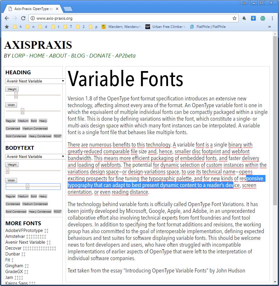 Unter www.axis-praxis.org lassen sich die OpenType Variable Fonts ausprobieren.