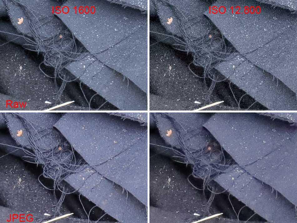 Canon EOS 6D Mark II, JPEG, Raw, Vergleich