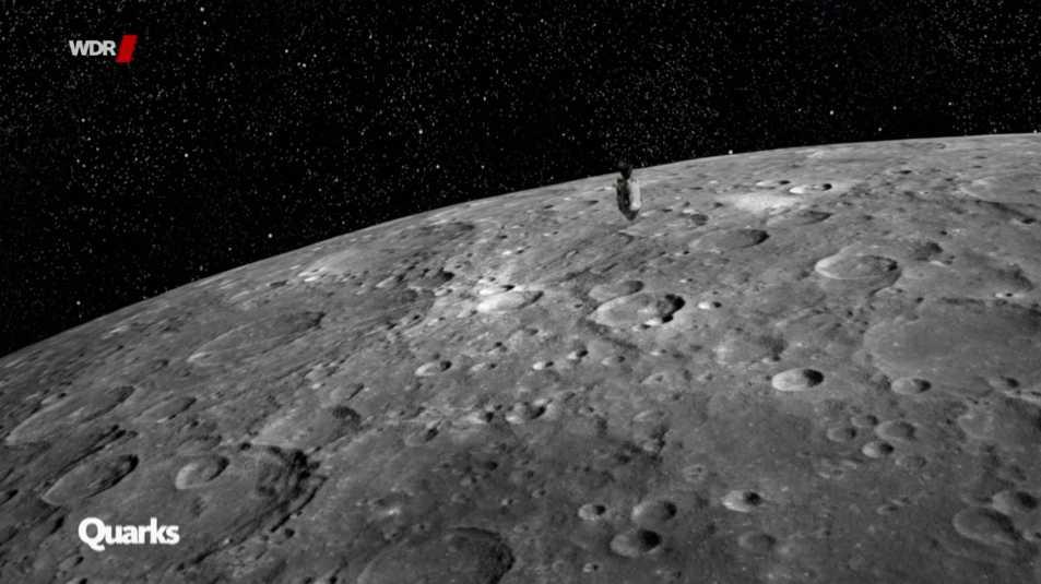 Oberflächenfotografie vom Mond