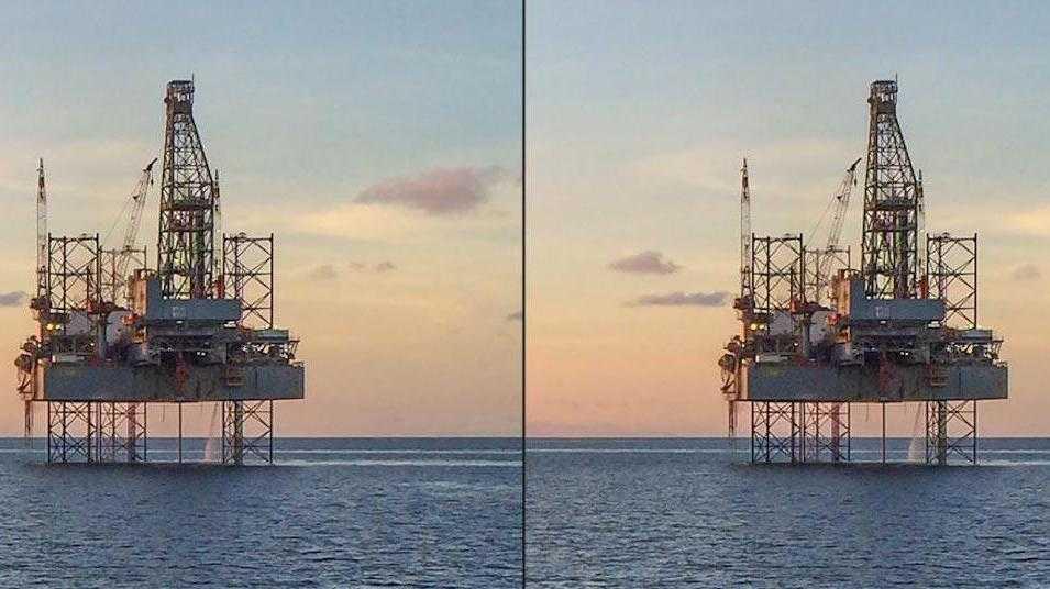 Öl- und Gasplattform