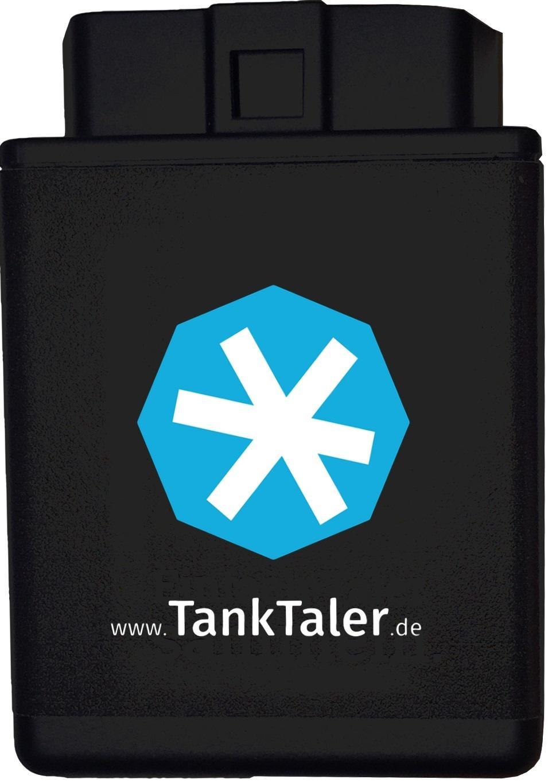 Der TankTaler ODB-2-Dongle wird mit dem Diagnoseport des Fahrzeugs verbunden.