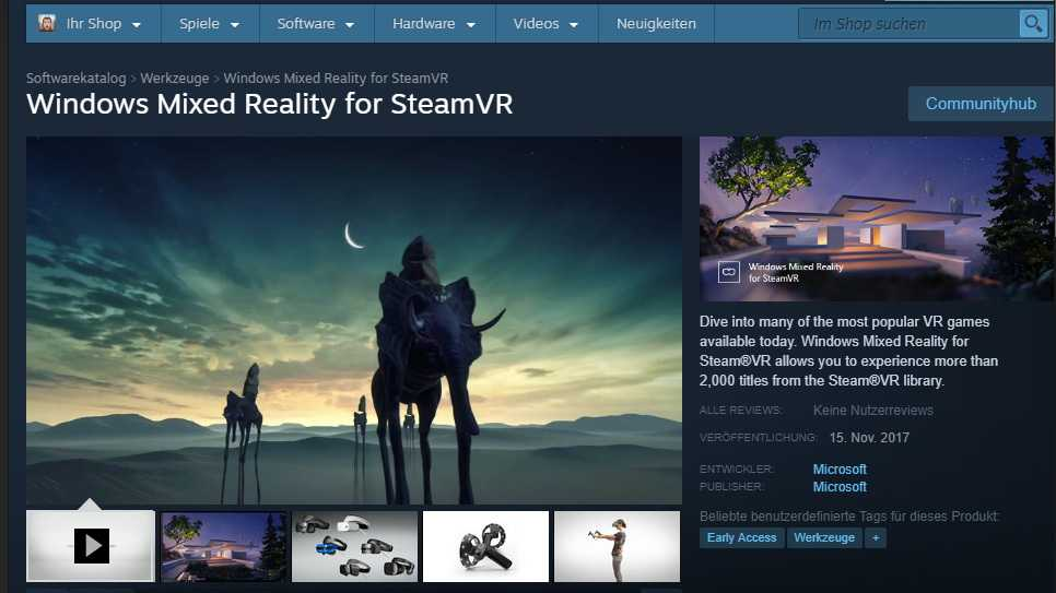 Steam VR steht als Open Beta für Windows Mixed Reality bereit.