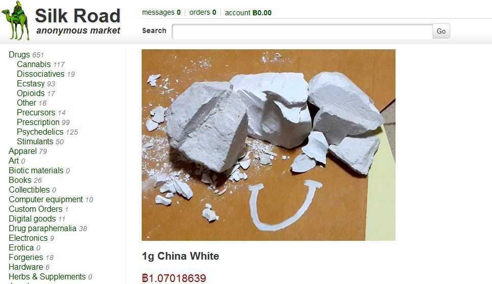 Trotz Razzia gegen die Silk Road boomt der Darknet-Markt: Chinesisches Heroin auf der Silk Road 2.0.