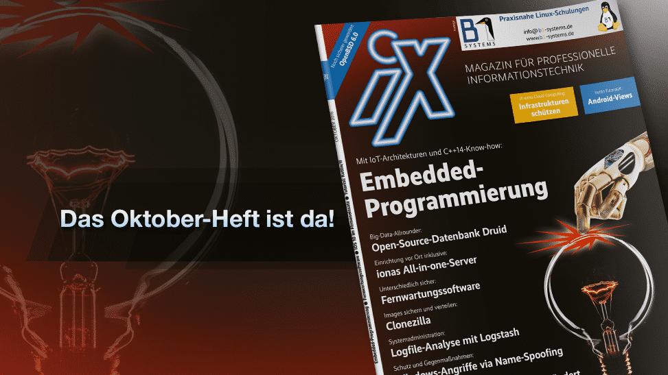iX 10/16: Embedded-Entwicklung, iOS 10 im Unternehmen