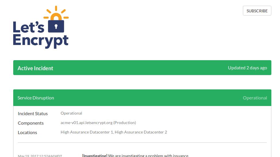 Doppelslash sorgte für Ausfall von Let's Encrypt